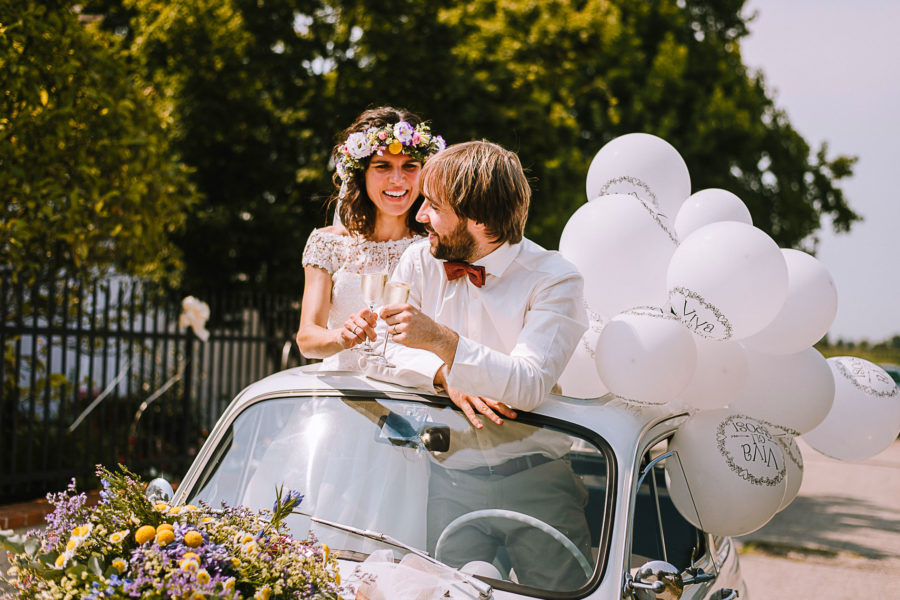 Fotografo matrimonio Padova, brindisi degli sposi
