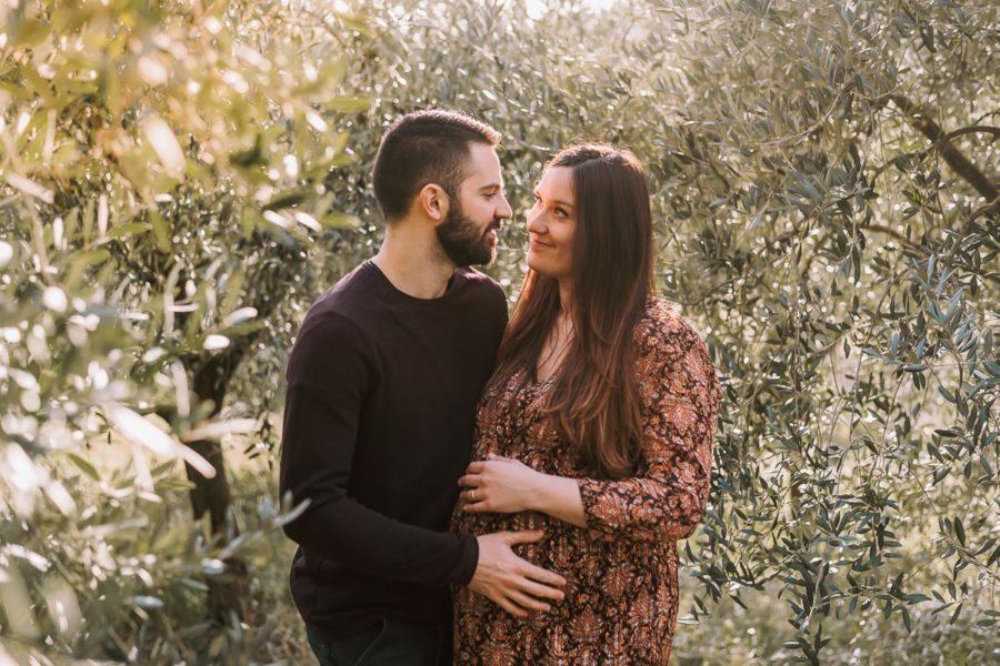 Servizio fotografico di gravidanza Padova, foto maternità al tramonto
