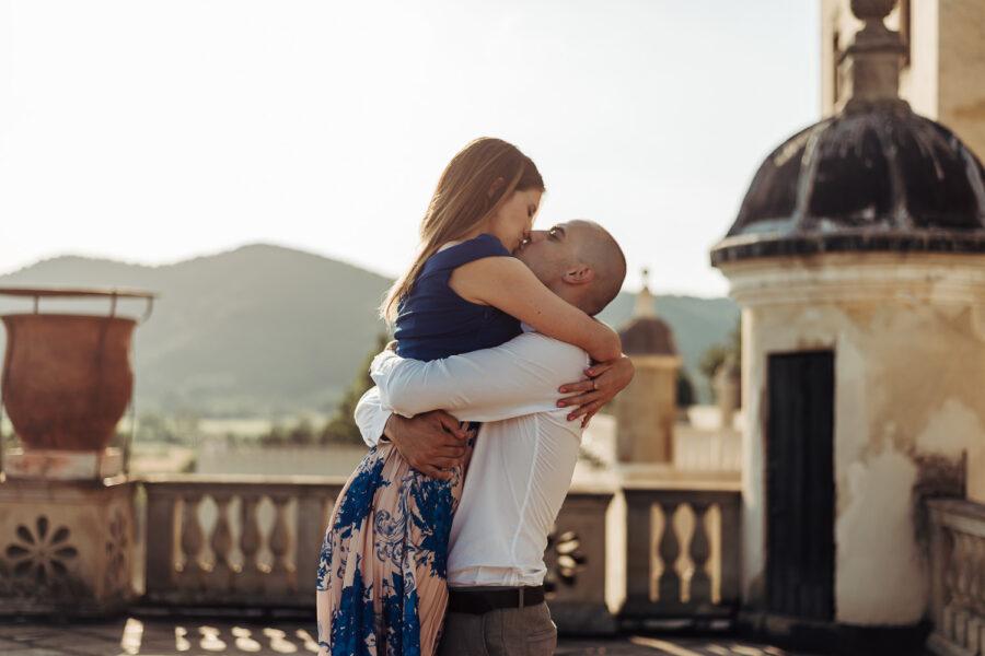 Servizio fotografico di coppia al Castello del Catajo