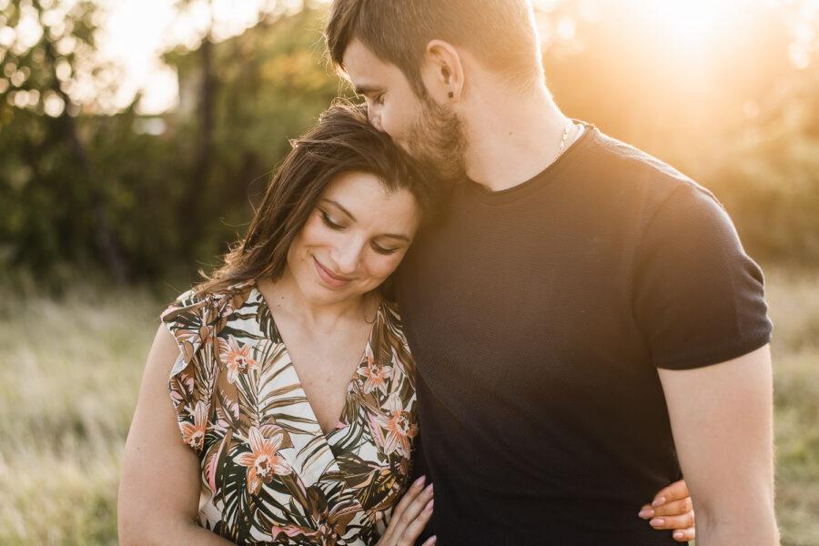 coppia tramonto servizio fotografico nei colli euganei